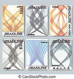 ensemble, business, aviateur, moderne, couverture, livret, vecteur, conception, brochure, rapport, size., ou, a4