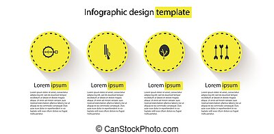 ensemble, business, infographic, template., piège, vecteur, chasse, fusil chasse, arrows., hipster, arbre