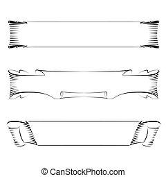 clipart vecteur de ensemble cadre vecteur calligraphie banni re ruban csp8497846. Black Bedroom Furniture Sets. Home Design Ideas