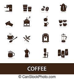 ensemble café, eps10, icônes