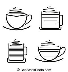 ensemble café, pictograms