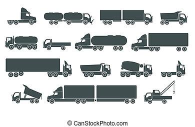 ensemble, camion