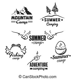 ensemble, camping, insignes