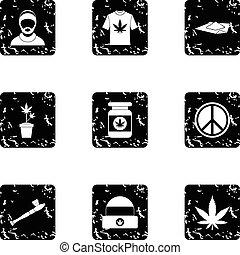 ensemble, cannabis, style, grunge, icônes