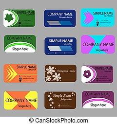 ensemble, card., business, use., moderne, illustration, créatif, vecteur, prêt, ton