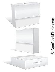 ensemble, cases., illustration, vente au détail