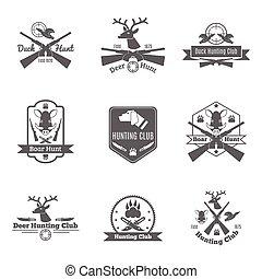 ensemble, chasse, étiquette