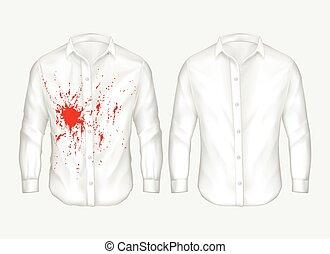 ensemble, chemise, mâle, vecteur, illustrations, blanc,...