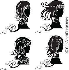 ensemble cheveux, beauté, femmes