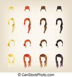 ensemble cheveux, femme