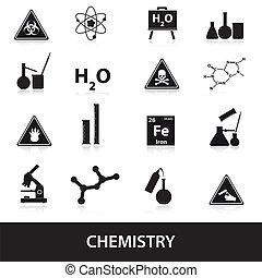 ensemble, chimie, eps10, icônes