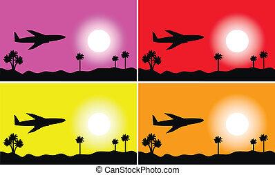 ensemble, ciel, avion, images: