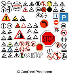 ensemble, circulation signe