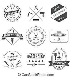 ensemble, coiffeur, étiquette