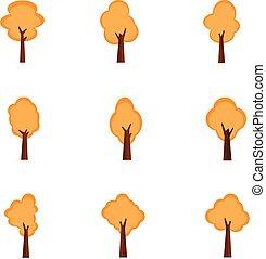ensemble, collection, arbres, stockage