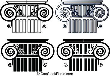ensemble, colonnes