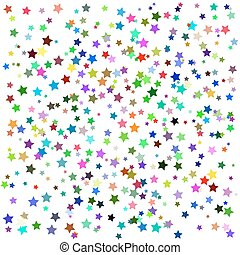 ensemble, coloré, étoiles
