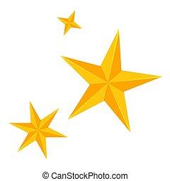ensemble, coloré, dessin animé, étoiles, noël