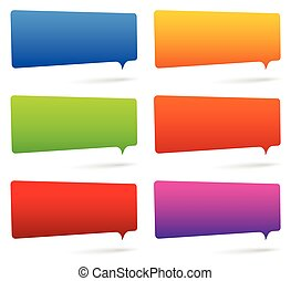 ensemble, coloré, espace, rectangulaire, parole, bulles, vide