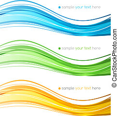 ensemble, couleur, lignes, courbe, vecteur, conception, element.