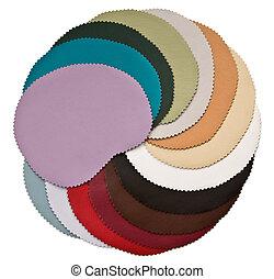 ensemble, couleur, texture, de, cuir