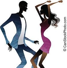 ensemble, coupler danse