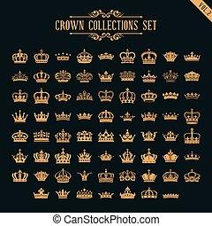ensemble, couronne, collection