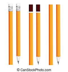 ensemble, crayons