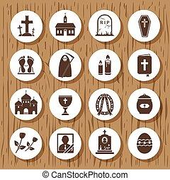 ensemble, déchirure, icônes