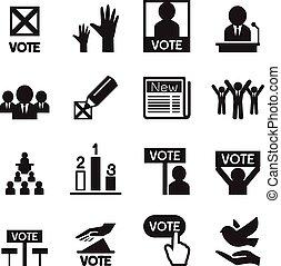 ensemble, démocratie, icône