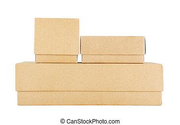 ensemble, de, boîte papier