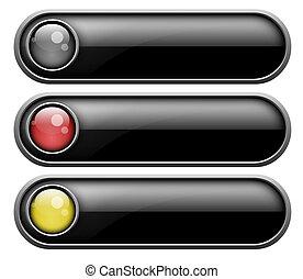 ensemble, de, boutons