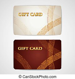 ensemble, de, cadeau, cartes