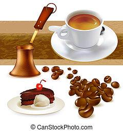 ensemble, de, café