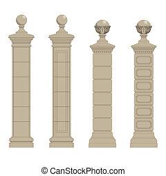 ensemble, de, colonne, 3