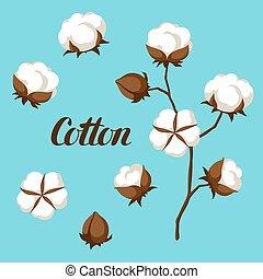 Bourgeons branche coton clipart vectoris recherchez - Branche de coton ...