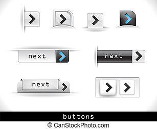 ensemble, de, gris, toile, boutons