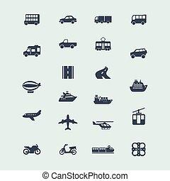 ensemble, de, icônes
