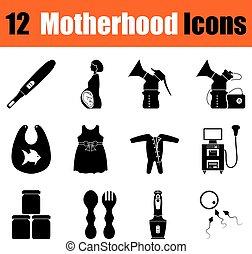 ensemble, de, maternité, icônes