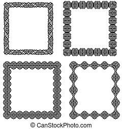 ensemble simple cadre noir banni res fronti re illustration vecteurs rechercher des. Black Bedroom Furniture Sets. Home Design Ideas