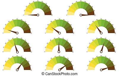 ensemble, de, nombre, diagrammes, depuis, 0, à, 100, ready-to-use, pour, conception toile, interface utilisateur, ou, infographic.
