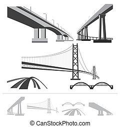 ensemble, de, ponts