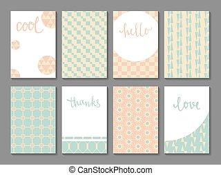 ensemble, de, printable, journaling, cartes