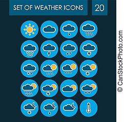 ensemble, de, temps, icônes, pour, les, interface