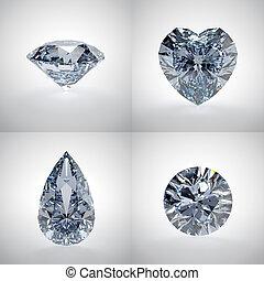 ensemble, diamants