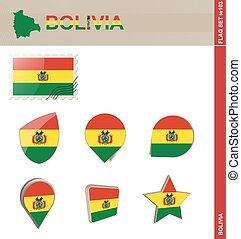 ensemble, drapeau, bolivie, ensemble