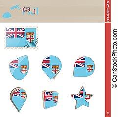 ensemble, drapeau, ensemble, fidji, #177