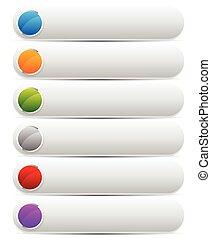 ensemble, elements., coloré, vecteur, conception, clair, graphics., oblong