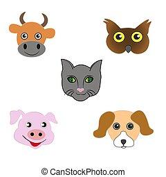 ensemble, emoticons., animal