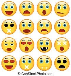ensemble, emoticons., emoji